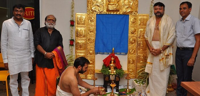 City based Smart Creations manufactures gold plated sheets for Lord Ayappa's Temple Side Walls