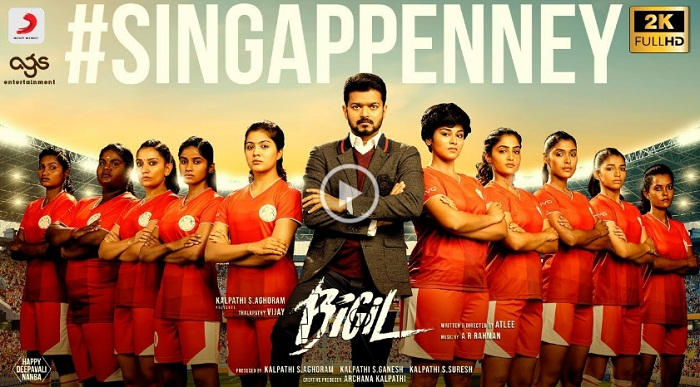 Bigil 1st Single Singap Penney