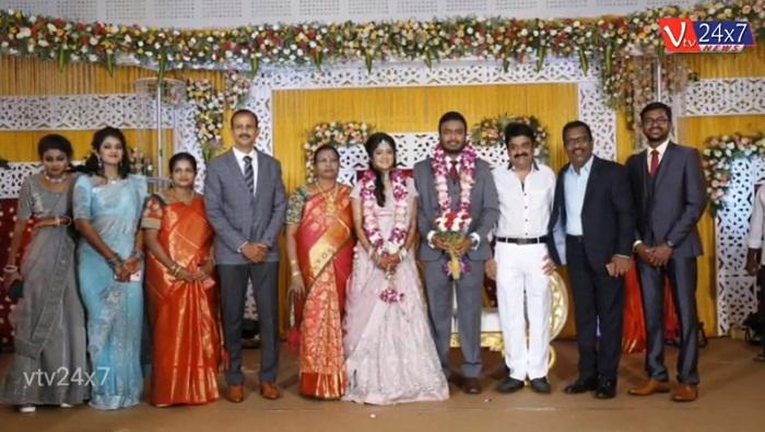 Actor Charlie elder Son Adhithiya Charlie weds Amritha Reception Stills