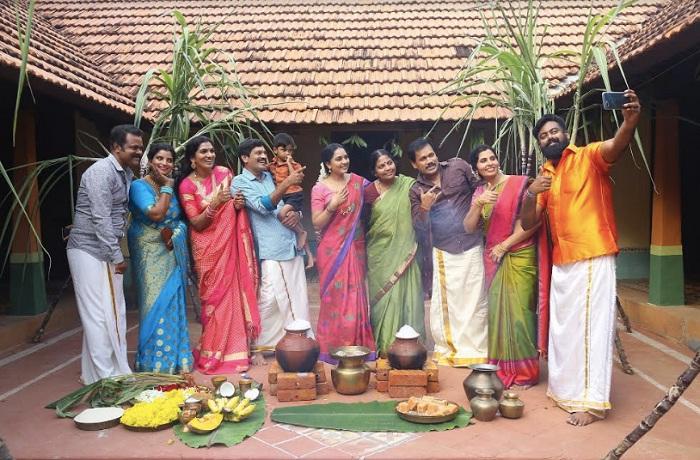 மும்பைபெண்ணான சிருஷ்டிடாங்கே கொண்டாடிய பொங்கல் கொண்டாட்டம்