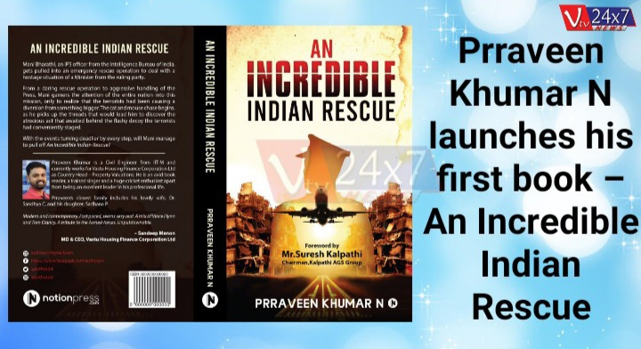 Prraveen Khumar N launches his first book – An Incredible Indian Rescue