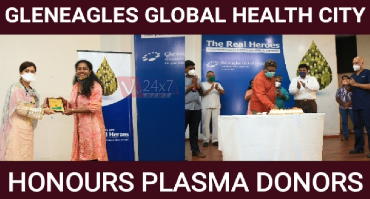 GLENEAGLES GLOBAL HEALTH CITY HONOURS PLASMA DONORS