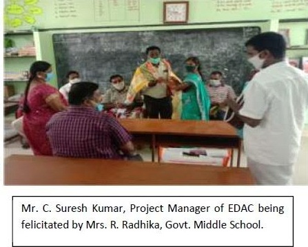 EDAC Engineering donates classroom furniture to two Government schools in Cuddalore district, Tamil Nadu as part of its CSR initiative