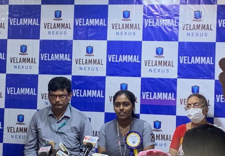 Velammal's Swetha ranks AIR 62 in NEET 2020