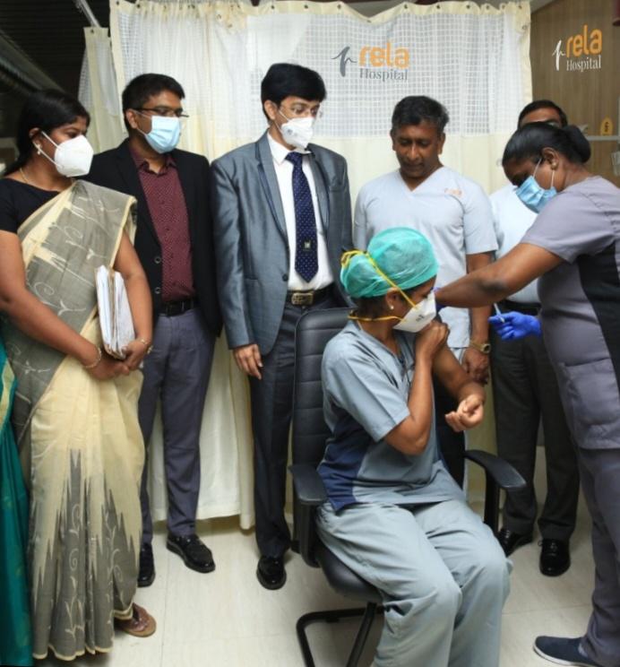 RELA HOSPITAL KICKSTARTS COVID VACCINATION DRIVE